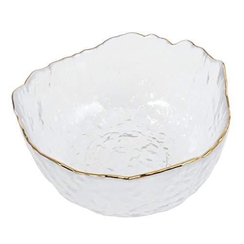 UPKOSH - Ensaladera Grande de Cristal, Cuencos para Mezclar, para casa, para Servir Frutas, postres, Alimentos, Queso, Dulces, Hielo
