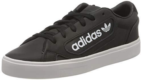 adidas Damen Sleek Sneaker, Core Black/Crystal White/Footwear White, 36 2/3 EU