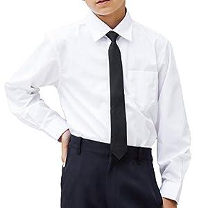 子供服 男の子 喪服 フォーマル ネクタイ付きシャツ/長袖 ジュニア (1473-5600) (ホワイト, 160cm)
