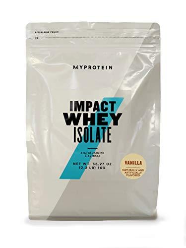 Myprotein Impact Whey Isolate Protein, Vanilla, 2.2 Pound (Pack of 1)