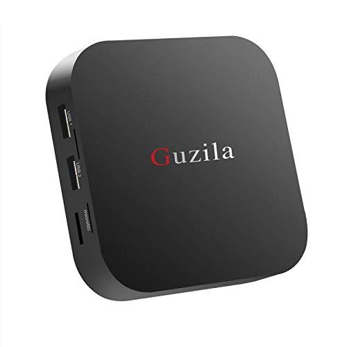 GUZILA Fanless Mini PC Intel Atom Z8350 Windows 10 Pro Mini Desktop Computer DDR3L 4GB/64GB eMMC/4K/2.4G/5G WiFi/BT 4.2