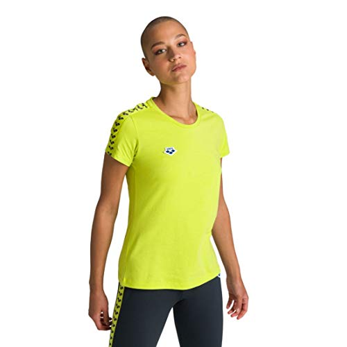 ARENA Damen Icons T-Shirt Team, Soft Green-Soft Green-ash Grey, XS
