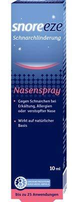 Nasenspray Gegen Schnarchen bei Erkältung, Allergien, oder verstopfter Nase,wirkt auf natürlicher Basis bis 8 Stunden,reicht bis 25x2 Anwendungen. Spar-Set 2x10ml.