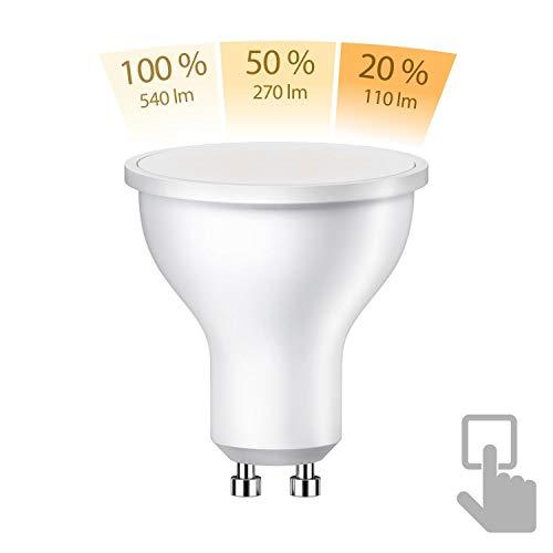 ledscom.de GU10 LED Lampe 6,2W =45W warmweiß A+ 100° 3-Stufen Stufendimmer 100% 50% 20%: 540lm / 270lm / 110lm, 10 STK.