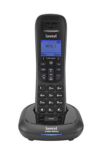 Beetel X91 Cordless 2.4GhZ Landline Phone with Caller ID Display, 2-Way Speaker Phone, Stores 100 Contacts, Event Reminder, Upto 8Hrs of Talktime & 100Hrs Standby with Alarm Function (Black)(X91)