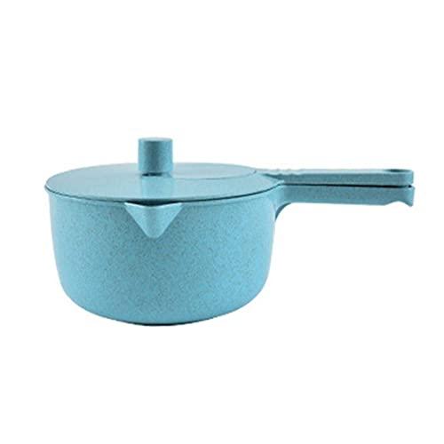 NaisiCore Salatschleuder, Weizenstroh Obst Handkurbel Multifunktionale Dörrgemüse Blender für Küche Zubehör Blau