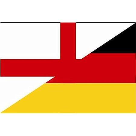 U24 Aufkleber England Deutschland Flagge Fahne 15 X 10 Cm Autoaufkleber Sticker Auto