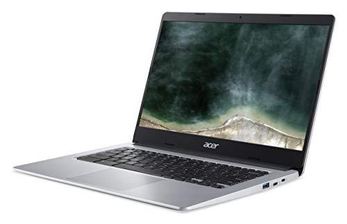 Acer Chromebook 314 (14 Zoll Full-HD matt, 19,7mm flach, extrem lange Akkulaufzeit, schnelles WLAN, MicroSD Slot, Google Chrome OS) Silber (DE Tastatur: QWERTZ) - 2