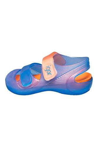 Zapatillas de Agua Unisex con Velcro Modelo Bondi Bicolor, de Igor - Azul, 21
