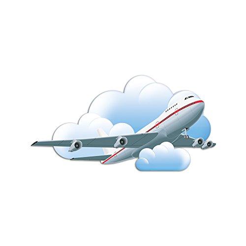 GrazDesign 721384 Muurstickers voor jongens kinderkamer vliegtuig wolken vliegen 58x30cm