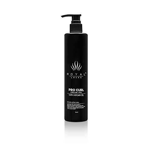 Royal Locks-Pro Curl Cream Gel | Curly Hair Cream Gel | Lightweight Curl Defining Cream with Argan Oil, Anti-Frizz Styling Gel - For Wavy, Coily & Curly Hair (10 Oz)