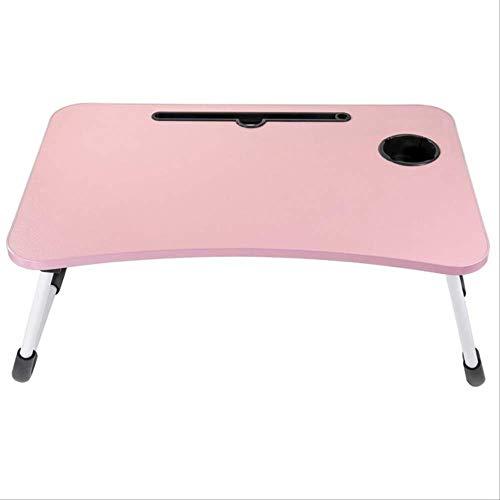 Mesa de ordenador portátil, escritorio de pie para cama, bandeja de cama portátil, regazo, escritura, lectura, trabajo en cama/sofá/sofá con pequeño regalo (taza pequeña, pegatinas)