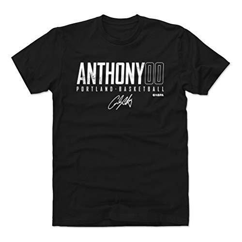 500 LEVEL Carmelo Anthony Shirt (Cotton, Large, Black) - Carmelo Anthony Portland Elite WHT