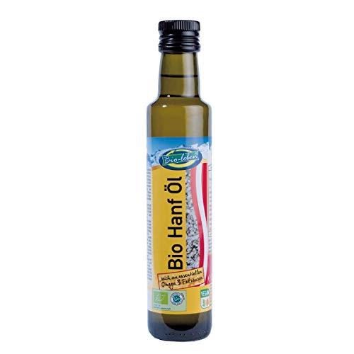 Olio di semi di Canapa BIO 250 ml biologico spremitura a freddo, fatto dalla canapa organica austriaca, 100% naturale organic hemp seed oil