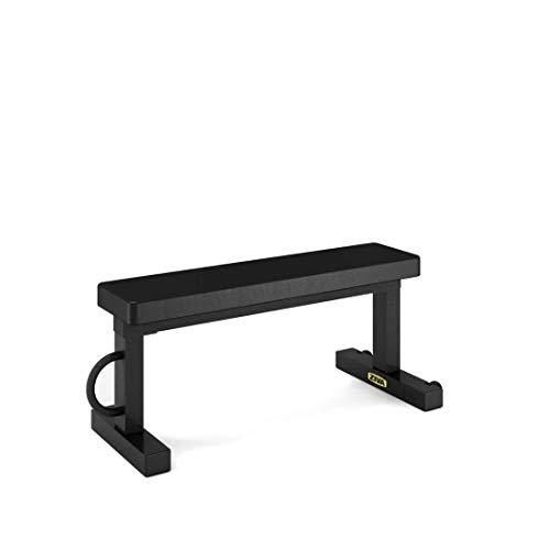 ZIVA Flat Bench Banco de Pesas, Unisex Adulto, Negro, Talla única