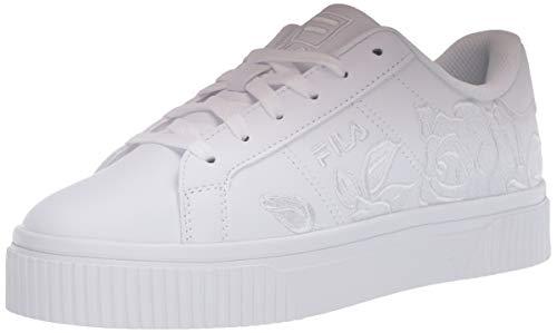 Fila Women's Panache Embroidery Sneaker, WHITE/WHITE/WHITE,9 M US