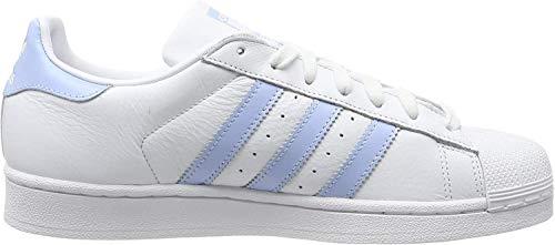 adidas Damen Superstar W Gymnastikschuhe, Weiß (FTWR White/Glow Blue/Core Black FTWR White/Glow Blue/Core Black), 37 1/3 EU