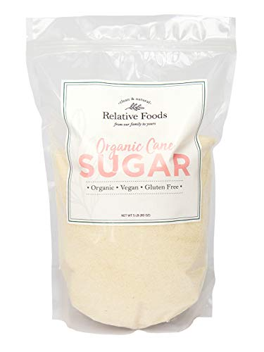 in budget affordable Relative Food USDA Organic Cane Sugar, 5 lbs, Gluten Free, Allergen Free Package …