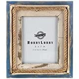 5' x 7' Blue and White Nautical Picture Frame with Rope