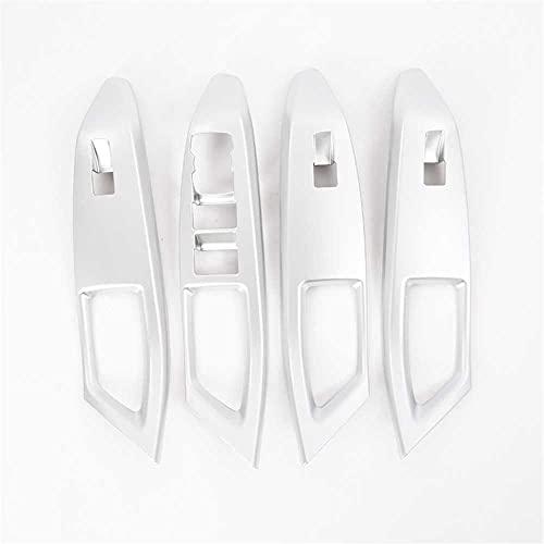 MIOAHD Cubierta Interior de los Botones del Interruptor de Cristal de la elevación de la Ventana de la Puerta del Coche, Apta para Ford Focus 2019
