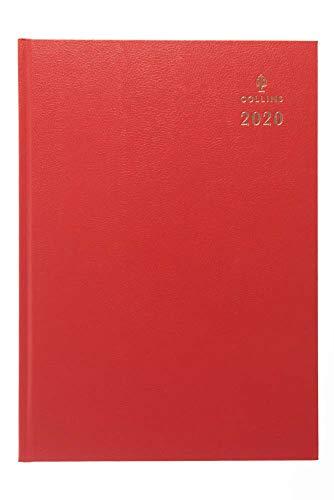 Collins - Agenda 2020, formato A4, giorno per pagina, colore: rosso