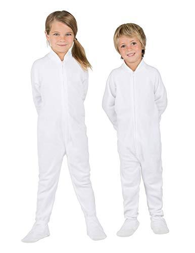 Footed Pajamas - Arctic White Toddler Fleece Onesie - Toddler - Medium (Fits 3'0 - 3'3') - Toddler - Medium (Fits 3'0' - 3'3')