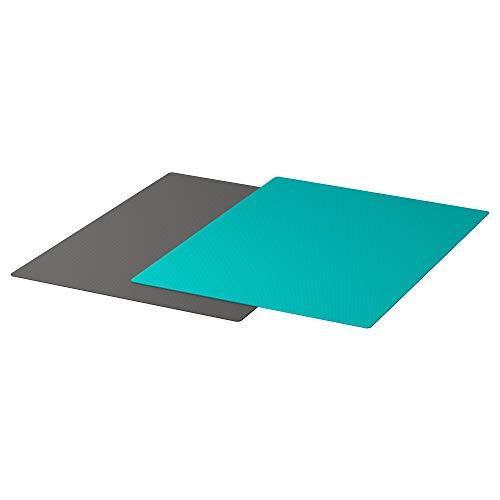 IKEA/イケアFINFORDELAまな板シート28x36cm2枚セットダークグレー/ダークターコイズ10335903