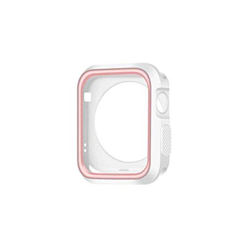 Suministros de Relojes - Caja de Reloj de 42 mm Funda Protectora Deportiva a Prueba de Golpes e Impermeable para Apple Watch 3/2/1 (Rosa)
