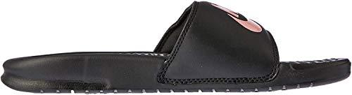 Nike WMNS Benassi JDI, Sneakers Basses Homme, Multicolore (Black/Rose Gold 007), 43 EU