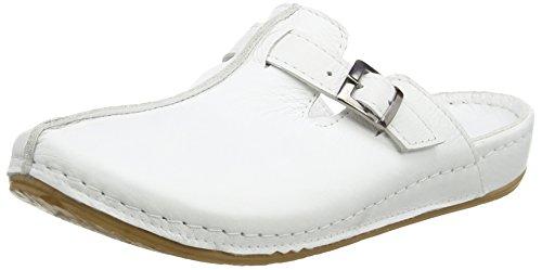 Andrea Conti 0021541, Zuecos Mujer, Color Blanco 001, 39 EU