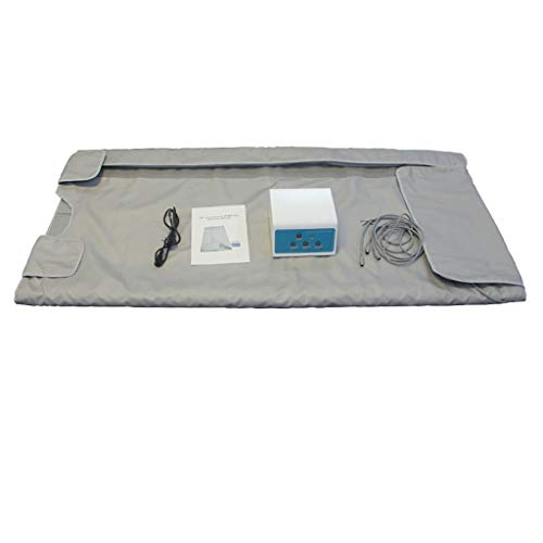 YMN Far-Infrared Sauna Decke Mit DREI Temperaturzonen Schönheit Ausrüstung Sanddorn Sweat Steaming Tasche Säure-Gewicht-Verlust Detox-Therapie-Maschine Für Personal Spa Anti-Aging Schönheit,Silber