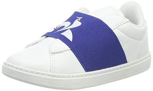Le Coq Sportif Unisex-Kinder COURTSTAR INF Strap Sneaker, Weiß (Optical White/Cobalt Optical White/Cobalt), 27 EU