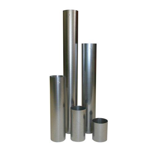 Kachelpijp vuurgealuminiseerd (FAL) wanddikte 0,6 mm Ø 120 mm, recht, roestvrij - rookkanaal, schoorsteenpijp zilver - voor pelletkachel en open haarden - verschillende lengtes 1000 mm zilver