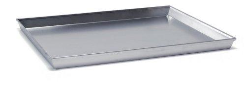 Ballarini 7044.50 Teglia Rettangolare, Angoli Svasati con Bordo in Alluminio Crudo, 50x35 cm