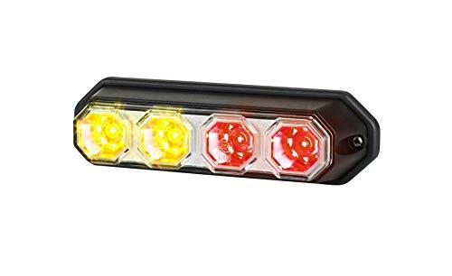 LED Rückleuchte 3 Funktion: Positionsleuchte, Bremsleuchte, Blinker, 147x42x37 für LKW PKW Anhänger Traktor Wohnmobile 12V 24V