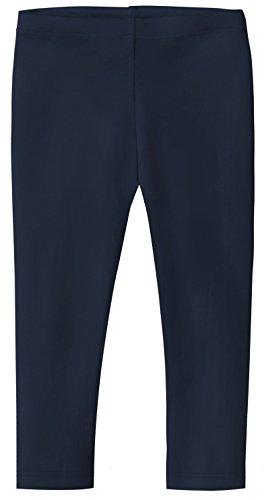 Big Girls' Cotton Cropped Capri Summer Legging for Play and School SPD for Sensitive Skin Sensory Friendly, Navy, 12