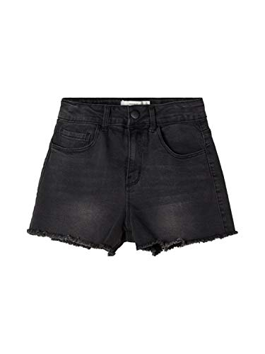 NAME IT Mädchen NKFRANDI MOM DNMCECE 7303 HW NOOS Shorts, Black Denim, 164