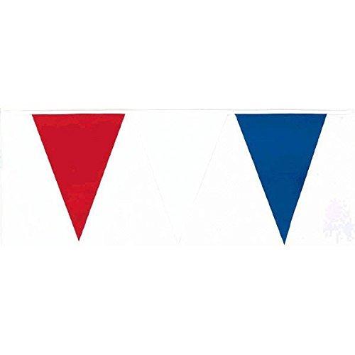 amscan International Guirlande fanions pour l'extérieur, 36 m, Rouge, Blanche et Bleue