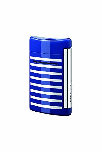 S.T. Dupont S.T. Dupont Minijet Feuerzeug,Motiv: Schwarzer Totenkopf Blue/White Stripes Blue/White Stripes