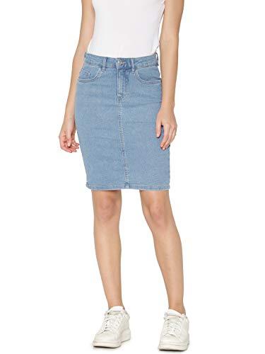 ONLY Damen Onlkiss High DNM Skirt Pim002 Rock, Blau (Light Blue Denim Light Blue Denim), 36 (Herstellergröße: S)