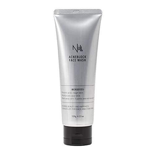 NULL 洗顔 メンズ (ニキビ を防ぐ かみそり負け/肌荒れ を防ぐ) 薬用 アクネブロック フェイスウォッシュ ...