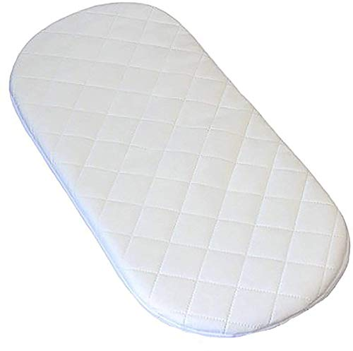 Pram and Moses Basket Mattress – Super Soft & Dry Effect HQ Foam Mattress| Breathable | Hypoallergenic | Size 70 x 30 x 04 cm