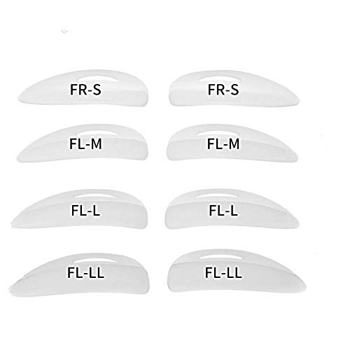 Libeauty Lash Lift Perm Rods Eyelash Perm Silicone Pads 4 size S M L LL ReusableSoft Lash Pads for Different Length Eyelashes PerfectLifting