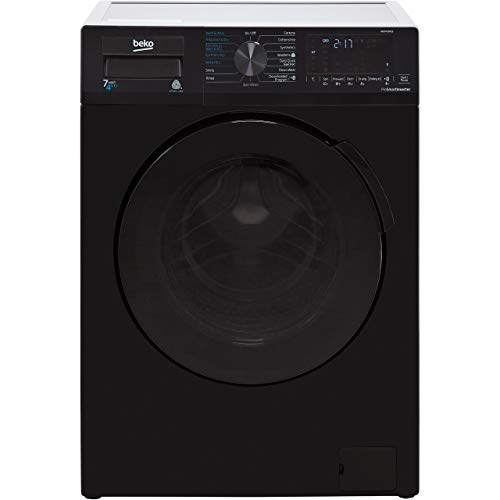 Beko WDB7426R1B 7/4kg 1200rpm Freestanding Washer Dryer - Black