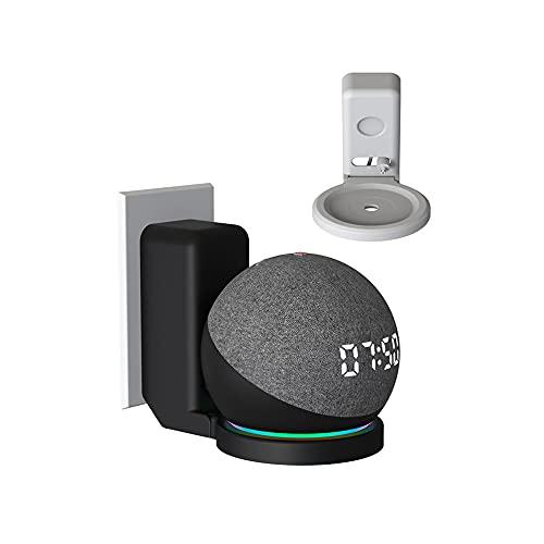 Soporte de Montaje en Pared de Salida Colgador de Soporte para Alexa Echo Dot 4ta generación Accesorios Que ahorran Espacio sin desordenados Dos Estilos de la UE / EE. UU. (Blanco)