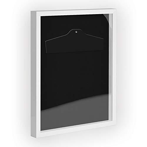 Objektrahmen Trikotrahmen VARIO inkl. Bügel und Passepartout 60x80cm Weiß (lackiert)