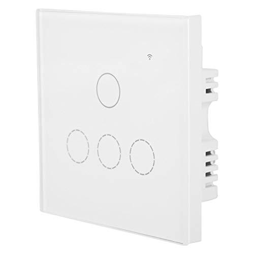 Aplicación móvil Control remoto Panel exquisito Luz de pared Interruptor táctil Luz de pared Protección contra sobrecorriente Pared remota inalámbrica para la vida hogareña(#2)
