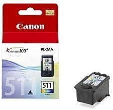Canon CL-511 Cartucho de tinta original Tricolor para Impresora de Inyeccion de tinta Pixma MX320,330,340,350,360,410,420-MP230,240,250,252,260,270,272,280,282,480,490,492,495,499-IP2700,2702