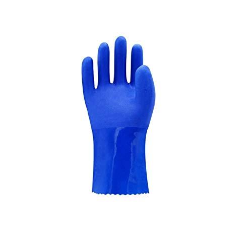 Jiahe115 Mini-handschoenen, voor het verzekeren van het werk, beschermende industriële handschoenen, antislip, waterdicht, optionele werkhandschoenen, blauw, meerdere rijen, slijtvast