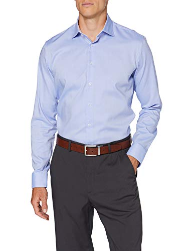 Seidensticker Herren X-slim Langarm Essentials Klassisches Hemd, Hellblau, 39 EU